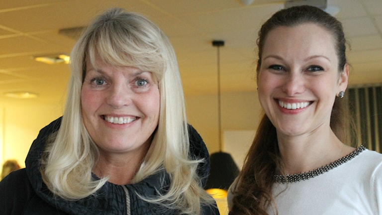 Birgitta Tryberg och Paulina Draganja, ordning: ordnings- och förvaringsdrottningar. Foto: Estrid Bengtsdotter/Sveriges Radio.
