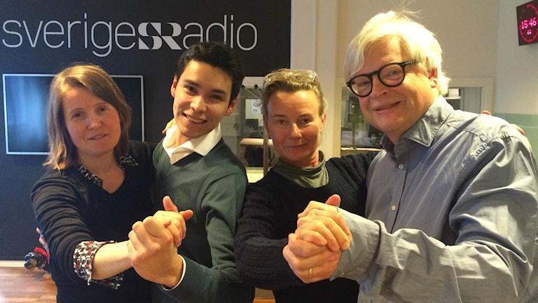 Louise Epstein, Osiel Ibanez, Eva Boijner Horwitz och Thomas Nordegren