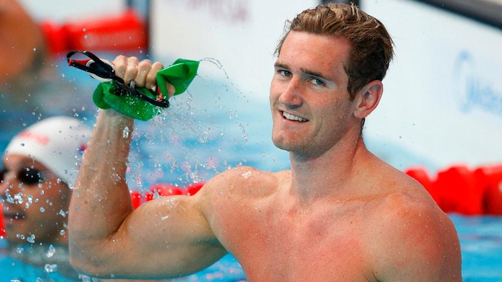 Cameron van der Burgh, olympisk mästare i 100 m bröstsim.