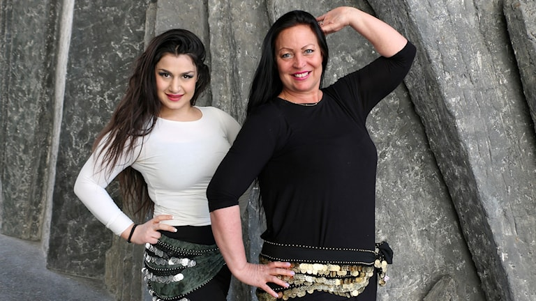Magdansösen Leyli Shafabakhsh och Suzanne Petrén Abou Shebika som är grundare av Stockholm Belly Dance Festival som börjar i dag.