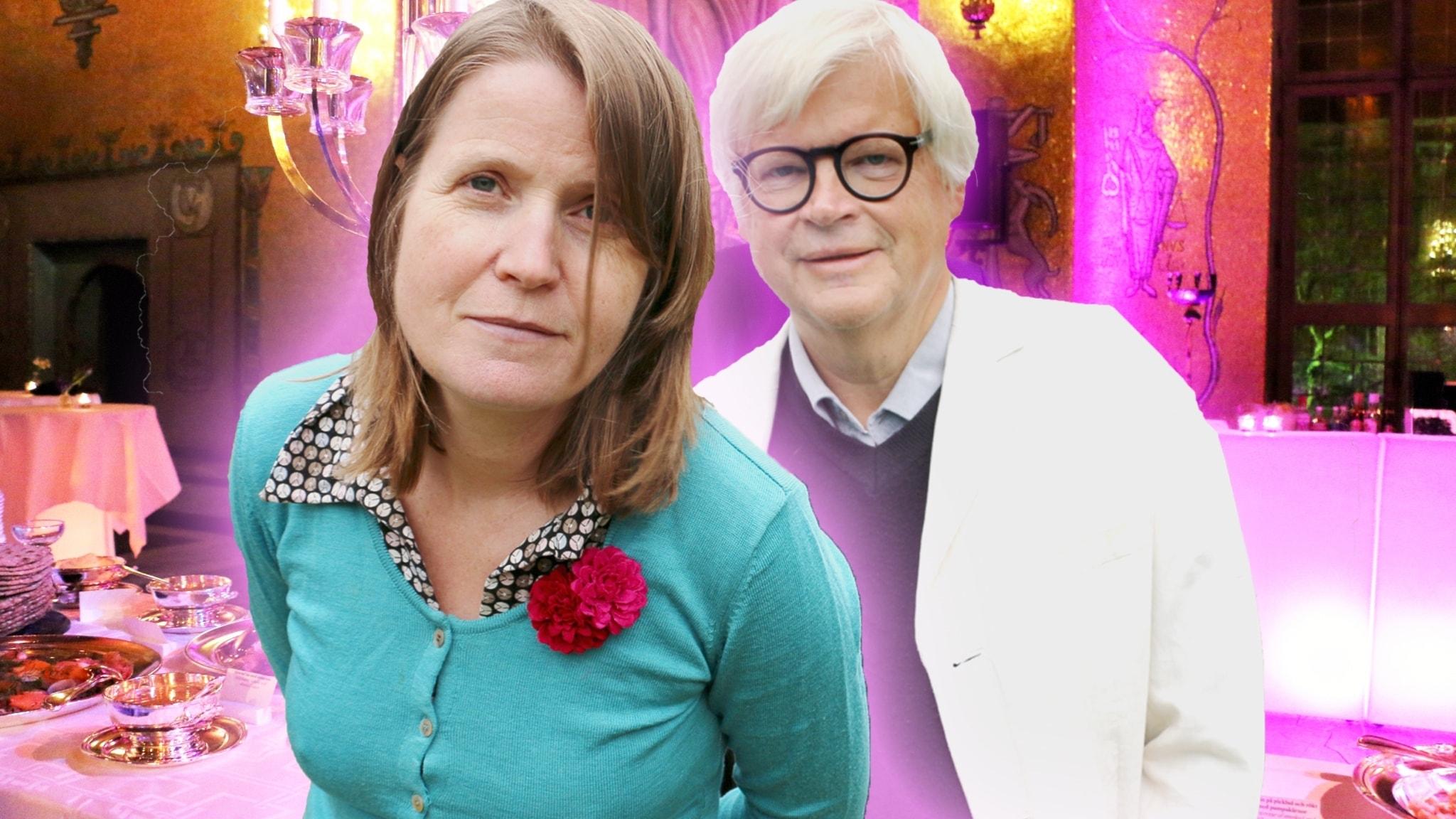 Louise Epstein och Thomas Nordegren i Gyllene Salen i Stadshuset ( Obs bilden är ett montage).
