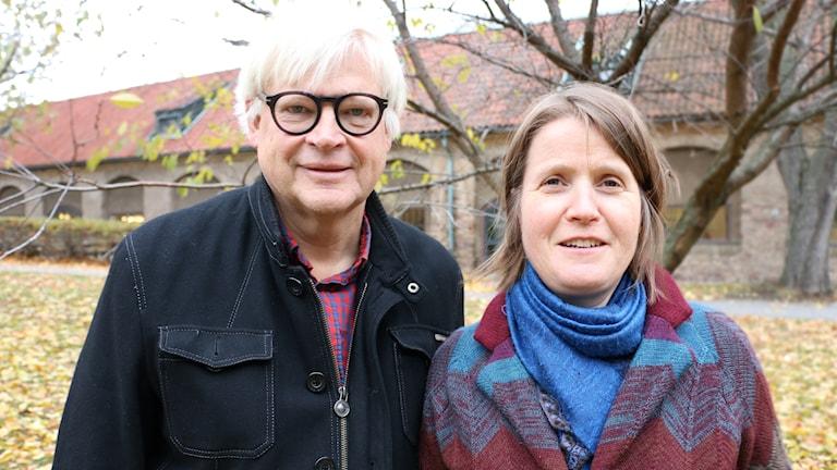 Thomas Nordegren & Louise Epstein i radioparken i november.