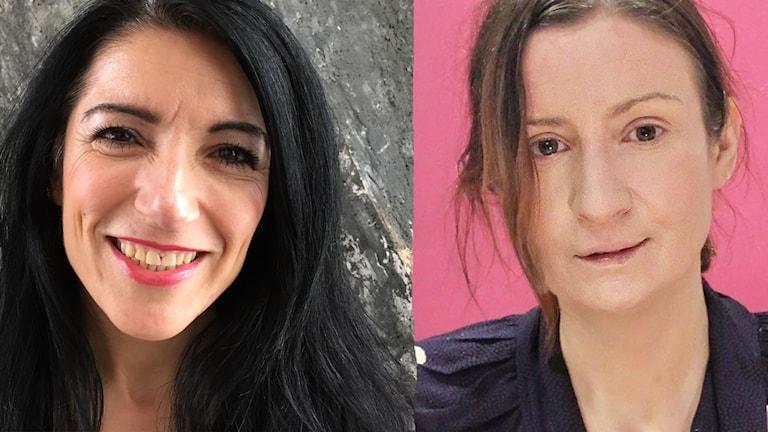 Riksdagsledamöterna Birgitta Ohlsson och Amineh Kakabaveh