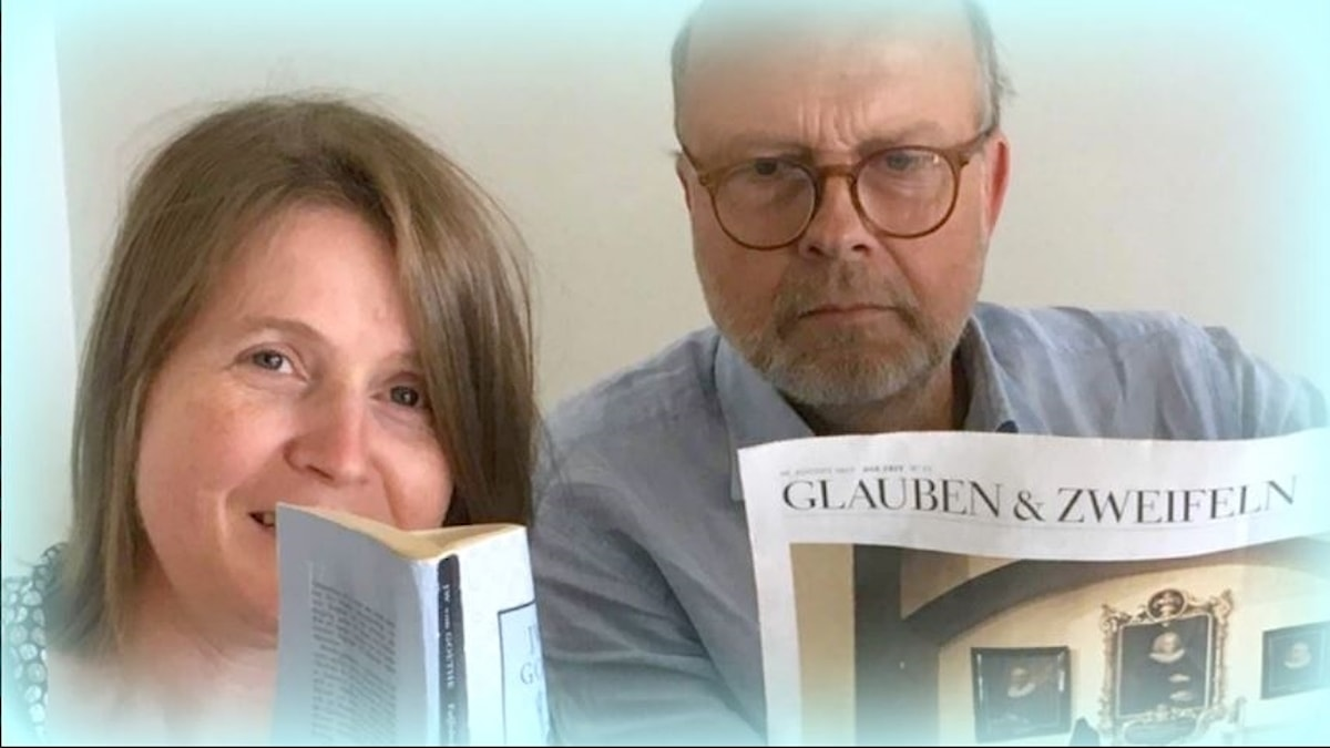 Louise Epstein och Gunnar Bolin .