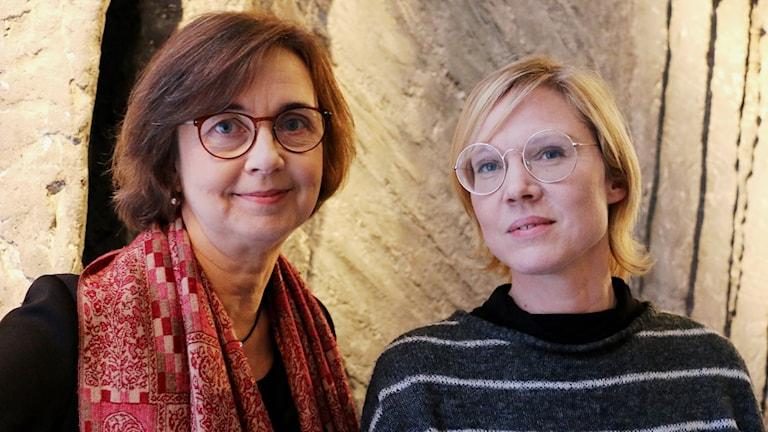 Gunilla Brodrej, kritiker på Expressen och Jenny Aschenbrenner, litteraturkritiker