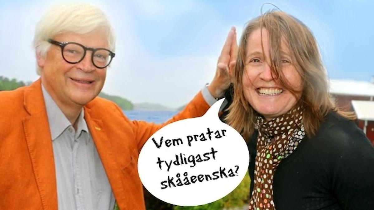 Båda pratar skånska, men varför låter det så olika? Foto: Ronnie Ritterland /Sveriges Radio
