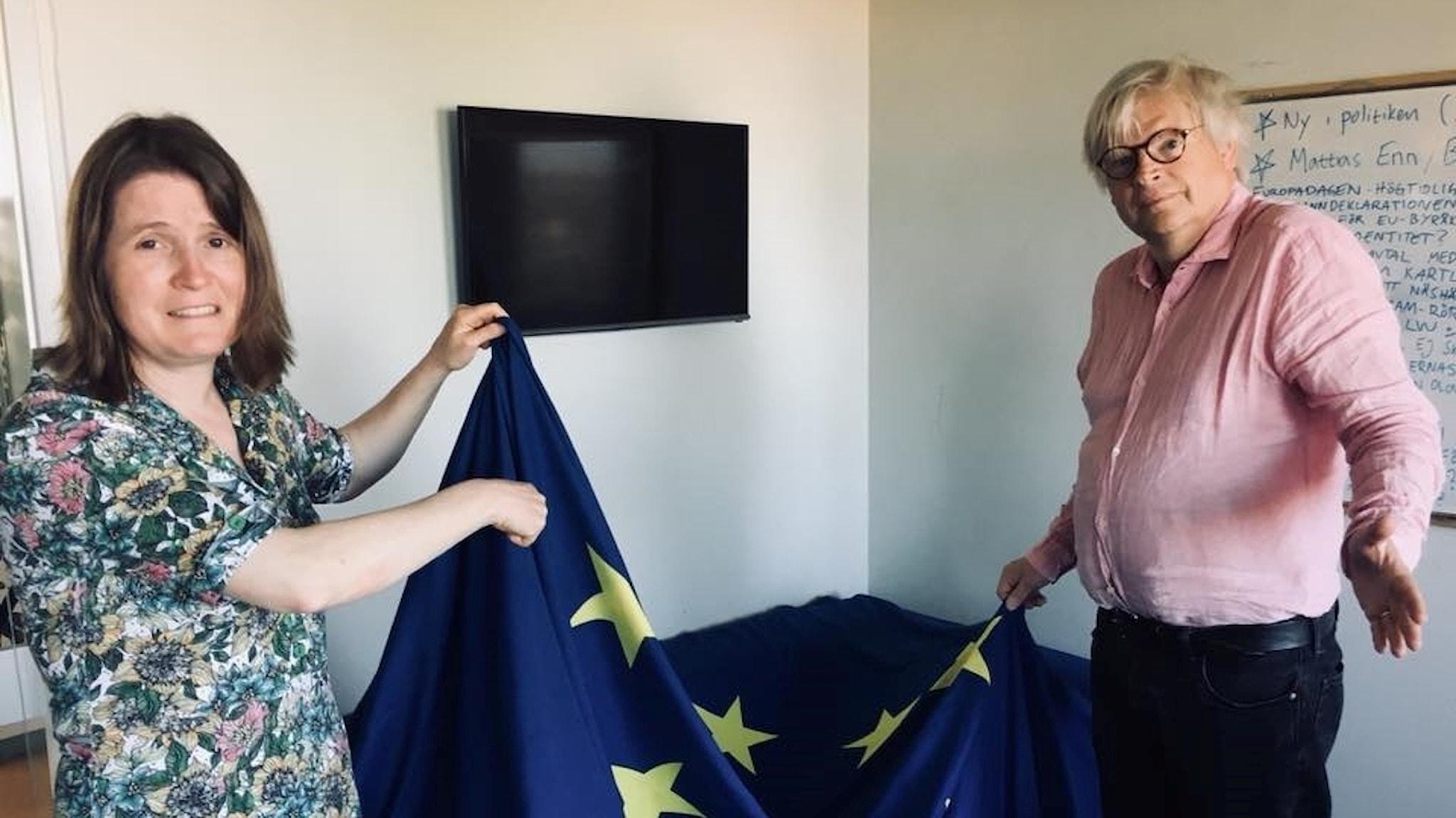 Louise Epstein, Thomas Nordegren och EU-flaggan