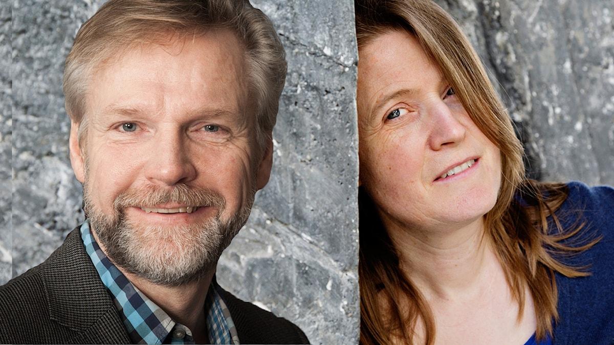 Tomas Ramberg och Louise Epstein. Bilden är ett kollage.