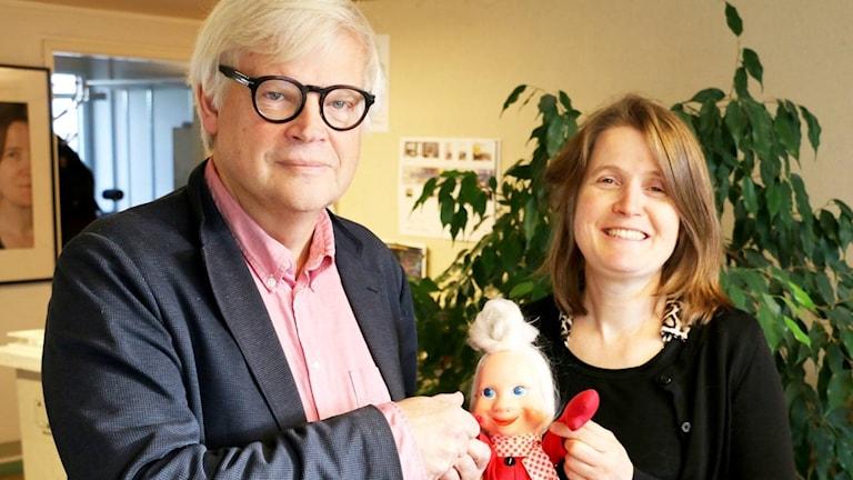 Nordegren & Epstein med jultomte.