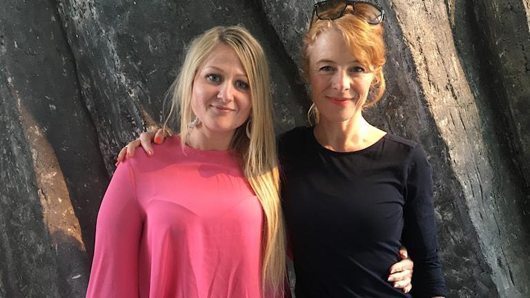 Sara Woldu och Åsa Blanck