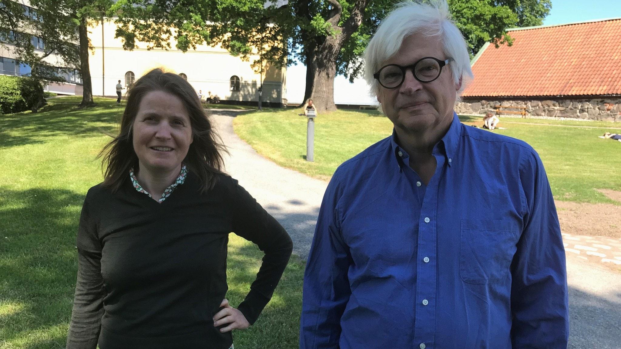 Louise Epstein och Thomas Nordegren i Radiohusparken.