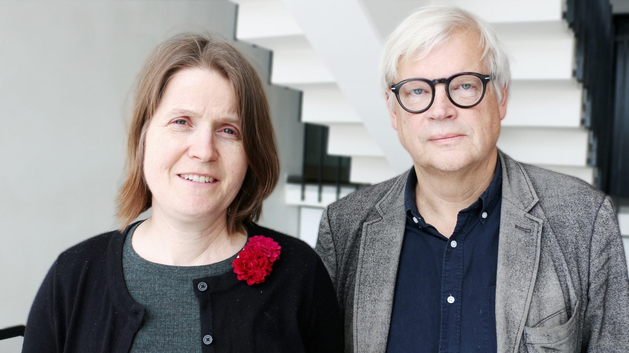 Thomas Nordegren och Louise Epstein. Foto: Ronnie Ritterland / Sveriges Radio