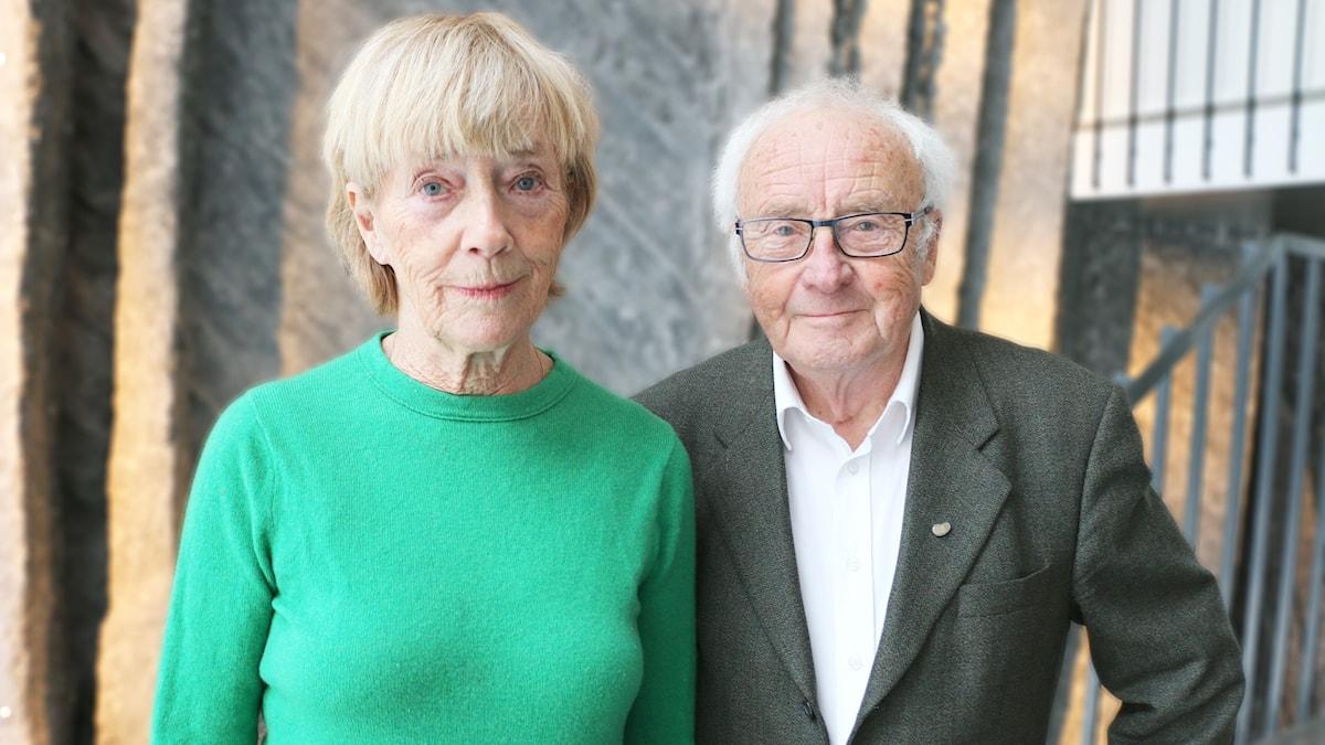 Från vänster: Författaren Birgitta von Otter och  tidigare finansministern Kjell-Olof Feldt.