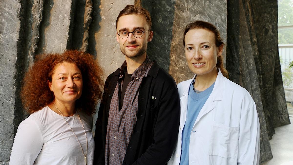 Axana Haggar, Heidi Stensmyren och André Hermansson gästar studion.