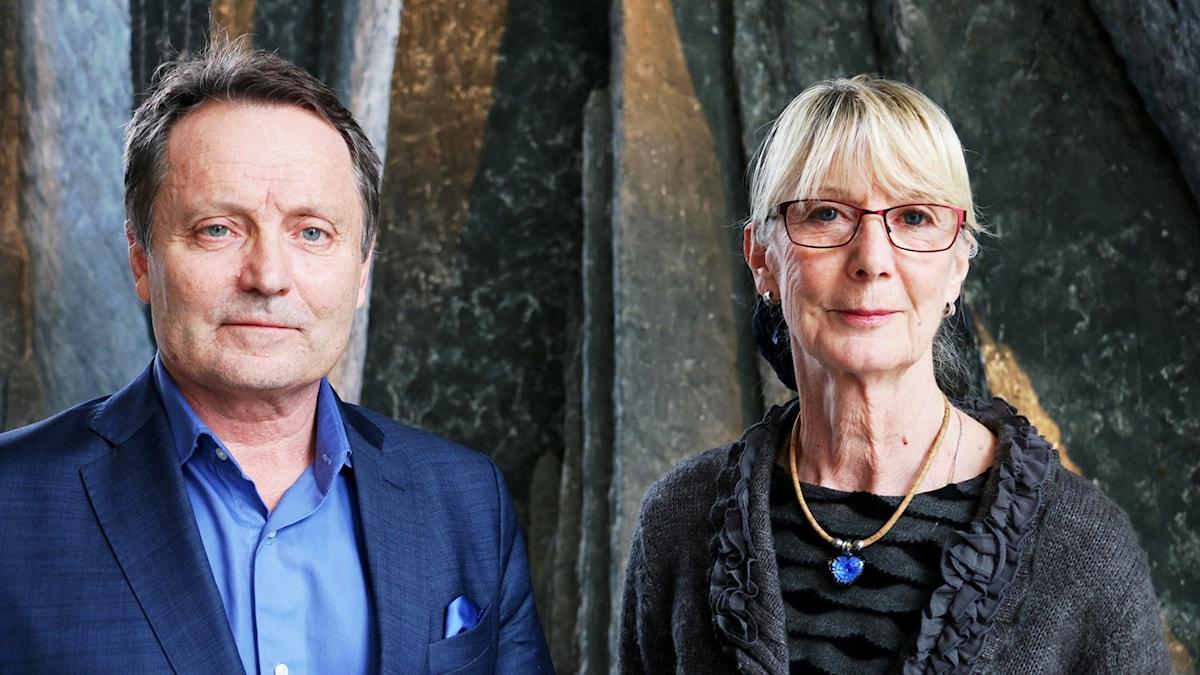 Jan Olov Andersson, vd Sv kyrkogårds- och krematorieförbund och Irene Rune, ceremoniansvarig Humanisterna