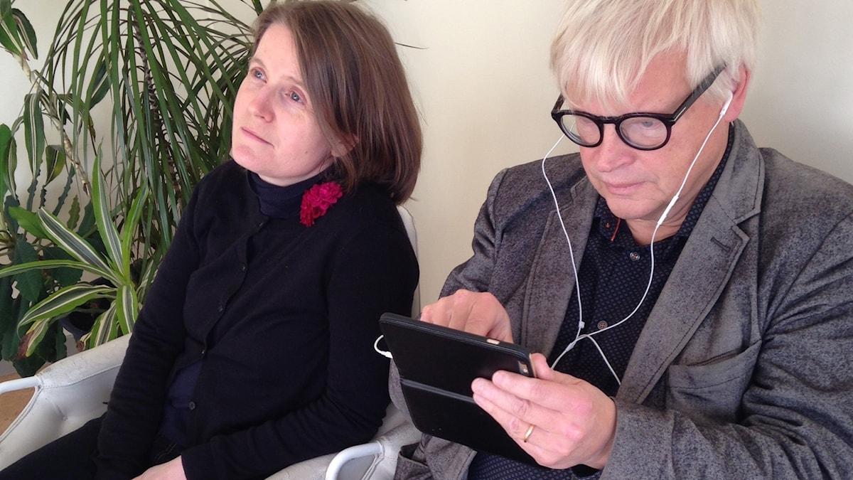 Louise Epstein och Thomas Nordegren. Foto: Sveriges Radio/Minna Grönfors