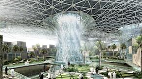 Så här kommer Masdar City enligt planerna att se ut när det är färdigtbyggt. Foto: Masdar Initiative.