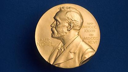 Nobelmedaljen. Foto: SVT Bild