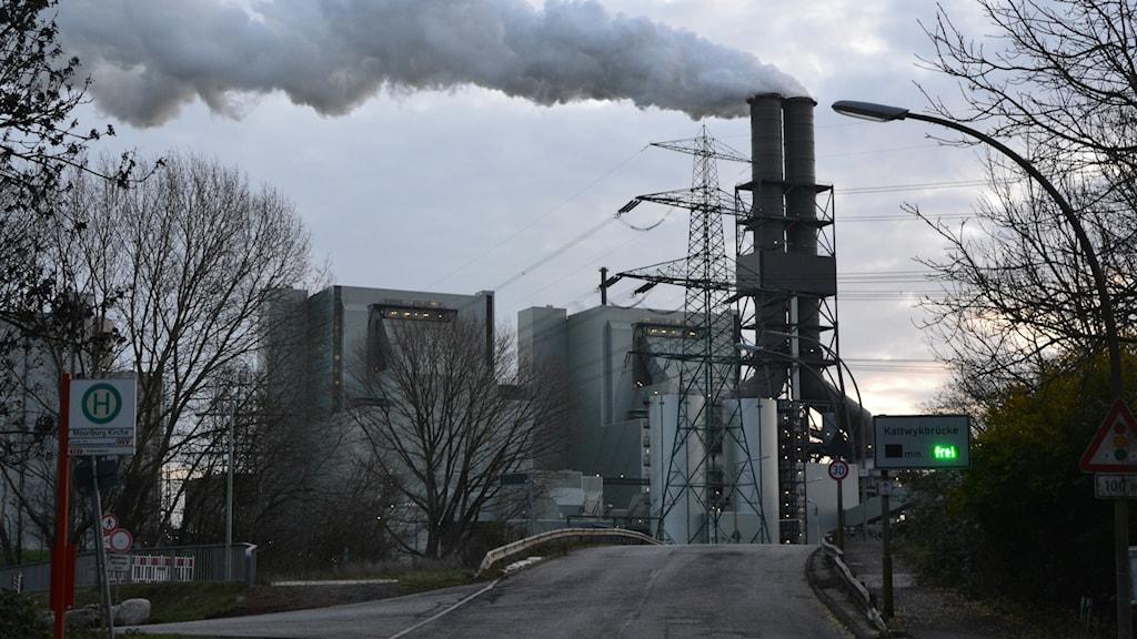 Vattenfalls kolkraftverk Moorburg utanför Hamburg