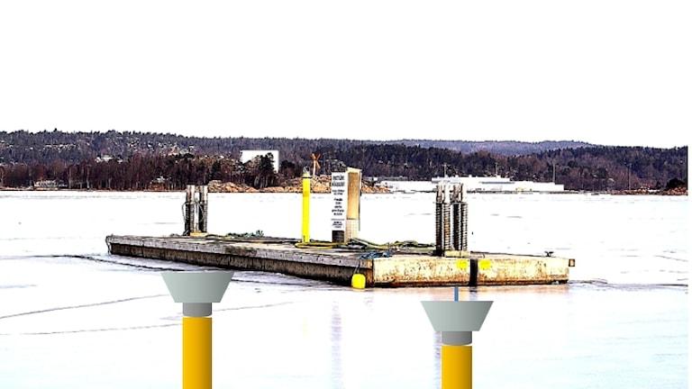 Pumpar monterade på flotte