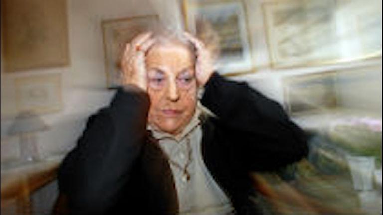 En person som ser stressad ut.