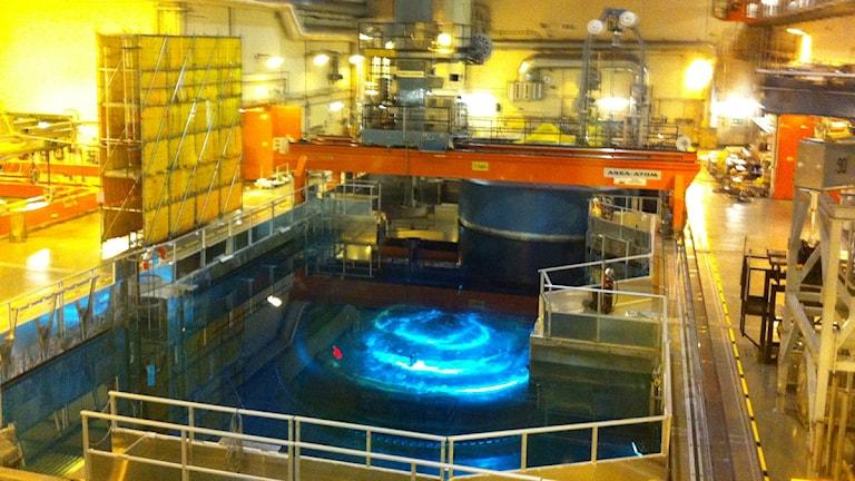 Reaktorhallen i reaktor 3 i Oskarshamns kärnkraftverk. Foto:Pelle Zettersten/SR