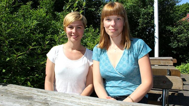 Maringeologen Anna Apler och miljökemisten Sarah Josefsson