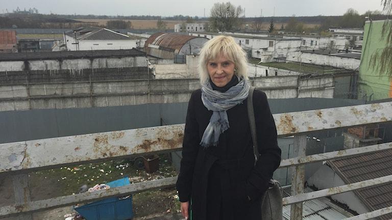 Svetlana Prosvirina i Kaliningrad smittades med tbc i fängelset bakom henne via en blodig madrass