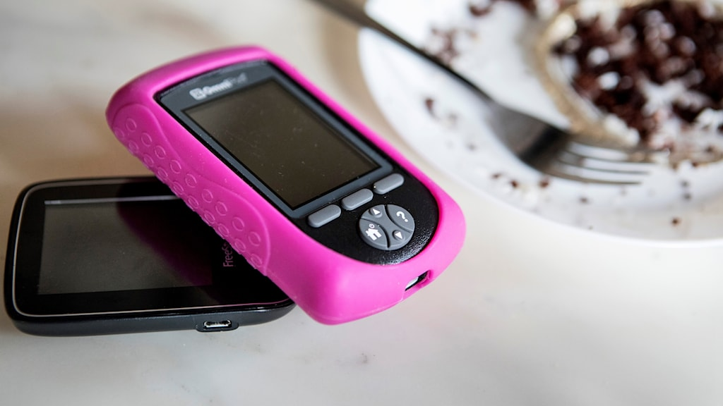 En rosa insulinpump.