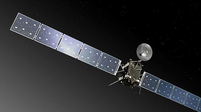 Nu ska Rosetta väckas upp ur sin dvala. Bild: European Space Agency ESA
