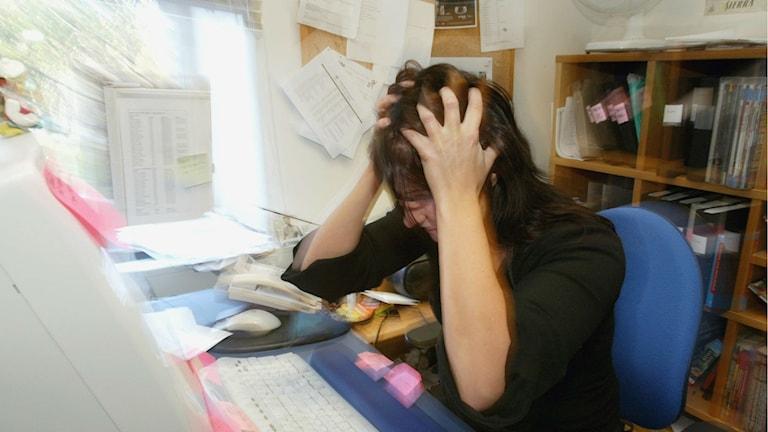 stressad på kontor
