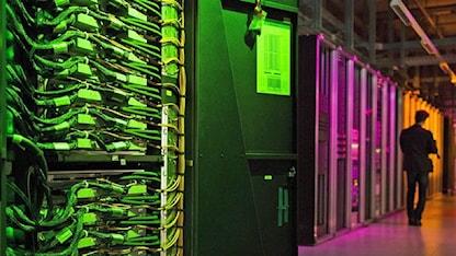 I projektet Human Brain ska superdatorn Blue Gene Q på EPFL i Lausanne försöka simulera en mänsklig hjärna. Foto: Jean-Christophe Bott/TT