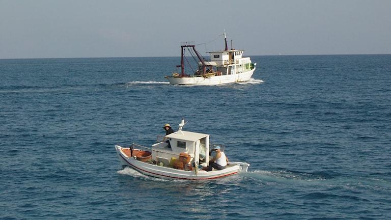 Fiskebåtar i Medelhavet
