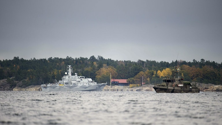The navy hunts for a recent underwater intruder in the Stockholm archipelago, Photo: Fredrik Sandberg /TT