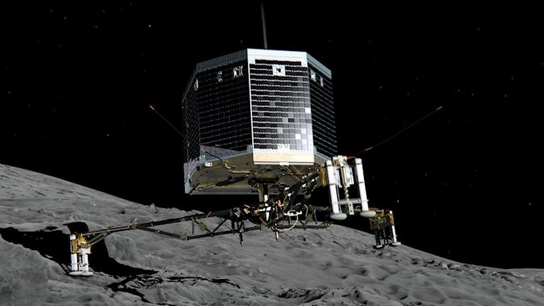 Illustration av kometlandaren Philae