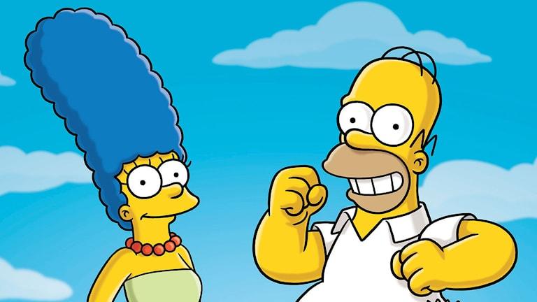 Marge och Homer Simpson