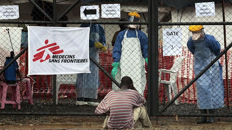 En av Läkare utan gränsers kliniker i Liberia. Foto: TT