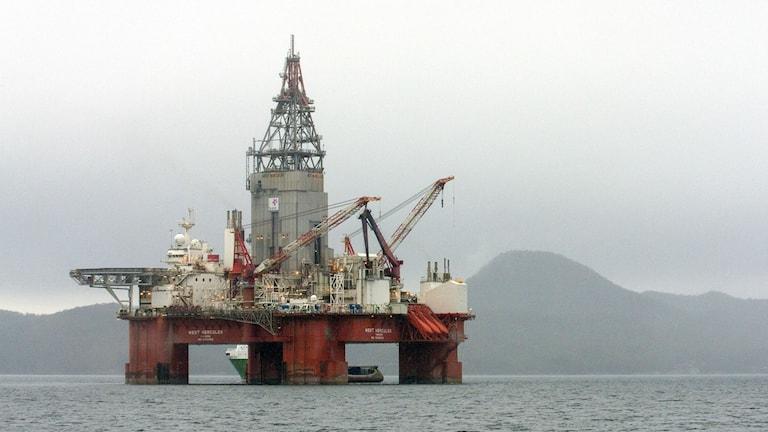oljerigg utanför Norge