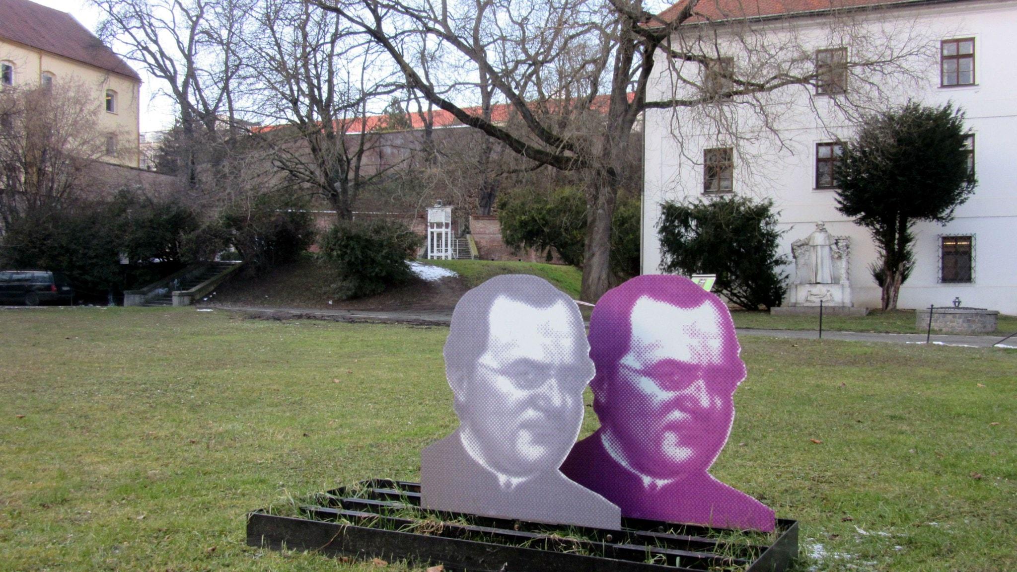 Klosterträdgården i Brno där Mendel odlade sina ärtor. Ett museum ligger intill.