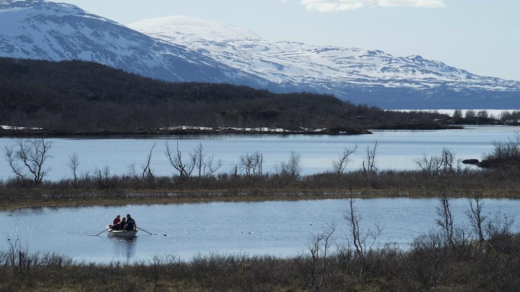 Sjöar och berg vid Stordalen