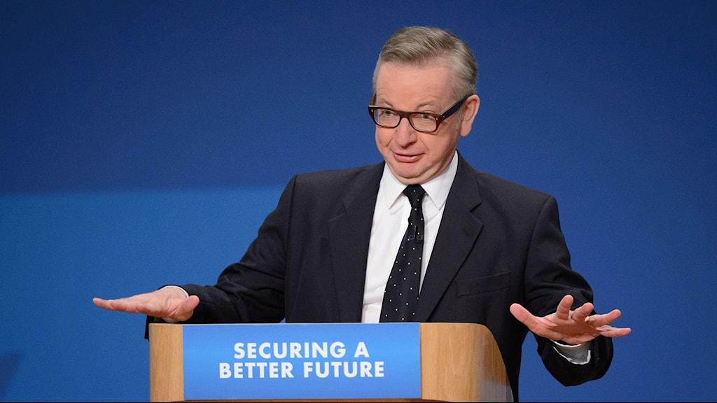 Michael Gove, Storbritanniens före detta utbildningsminister. Foto: TT