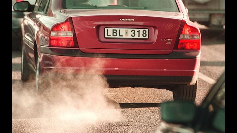 Avgaser från bil