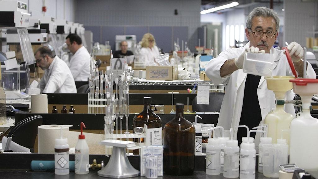 Forskning på laboratorium