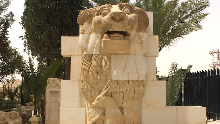 En staty av ett lejon. Foto: Mappo/wikimedia commons CC BY SA 4.0
