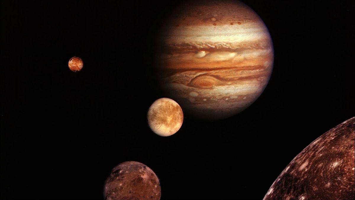 Jupiter och månar