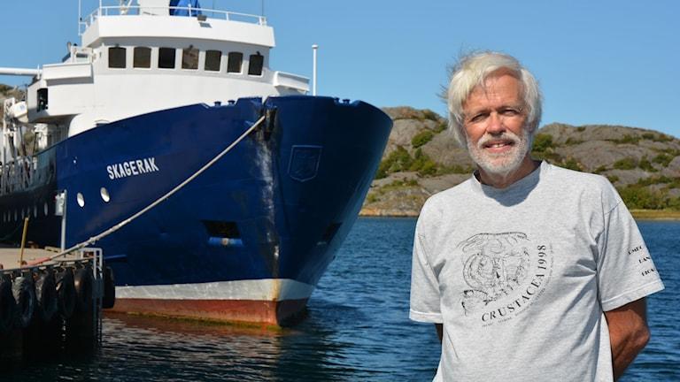 Matz Berggren ska inleda försök att fiska räka med bur. Foto: Niklas Zachrisson/Sveriges Radio