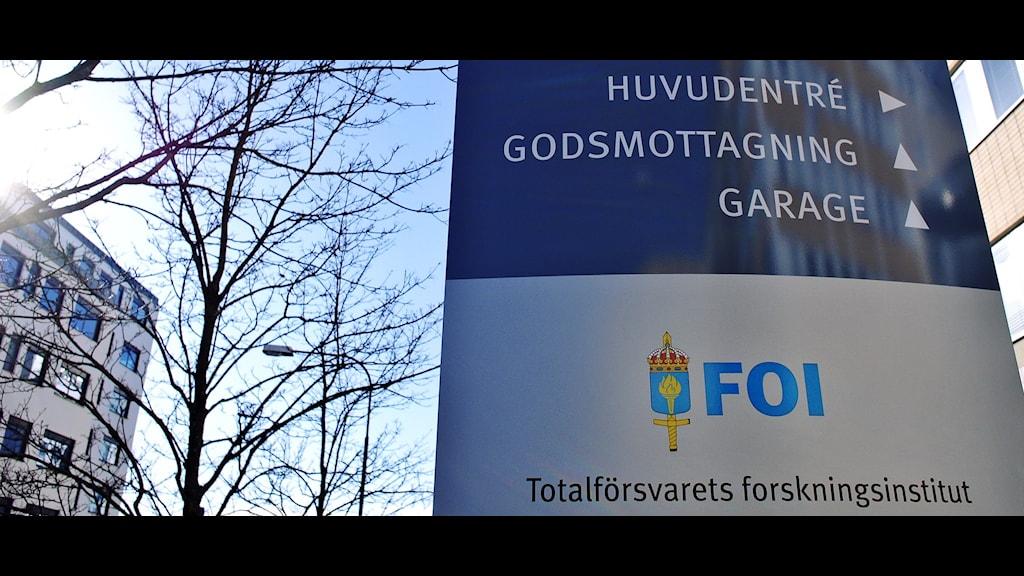 Totalförsvarets forskningsinstitut följer rysk forskning. Foto Johan Nilsson/TT
