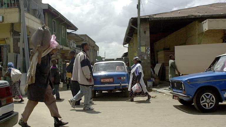 Stadsmiljö i Addis Abeba