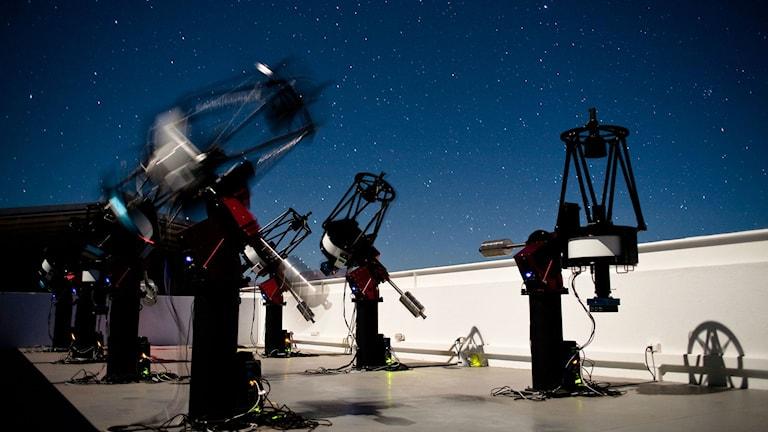 teleskop på rad