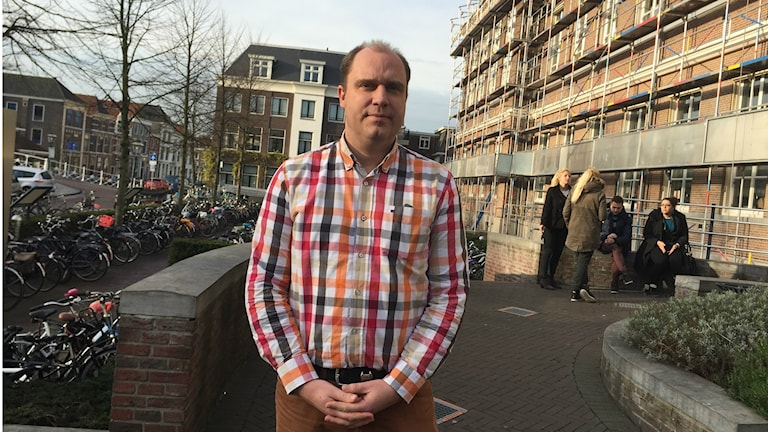 Prof. Pierre Koning Uni Leiden och Vrije Amsterdam. Foto: Johan Bergendorff / Sveriges Radio